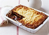 Lasagne in baking dish