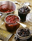 Chutneys with apples, walnuts and cranberries