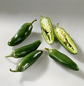 Green jalapeño peppers