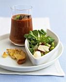 Acquacotta e Insalata con le fave (Bread soup & bean salad)