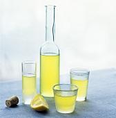 Limoncello (lemon liqueur), Campania, Italy
