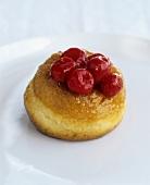 Doughnut with cherries