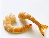 Cooked and peeled shrimp tails