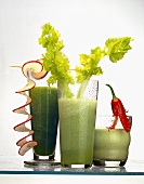 Green vegetable- and herb juices