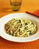 Spaghetti mit Knoblauch