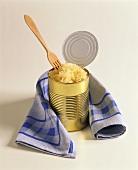 Sauerkraut in a tin