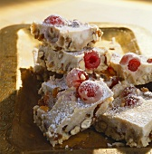 Nougat with cocktail cherries