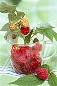 Raspberries in a cup