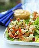 Shrimps with Thousand Island dressing