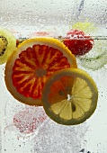 Slices of fruit in water