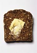 Buttered black bread