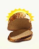 Rye bread, slices cut