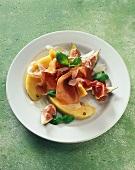 Prosciutto, melone e fichi (Parma ham with melon & figs)