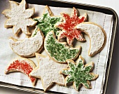 Biscuits with sugar sprinkles