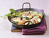 Courgette and apple gratin