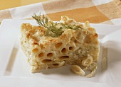 Pasta gratin with fennel