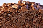 Chocolate cake (close-up)