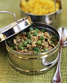 Keema matar (minced lamb with peas, India)
