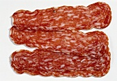 Roman salami (also known as 'Spianata romana), sliced