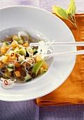Glass noodle salad with melon