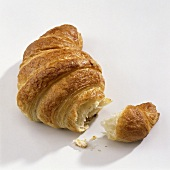 A croissant, broken