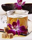 Japanese mulled wine (hot jasmine tea and sake)