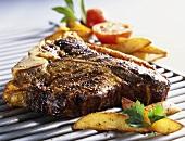 T-bone steak with farmer potatoes