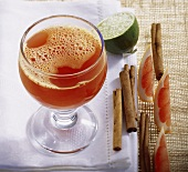 Vitamin punch (hot fruit tea and fruit juices)