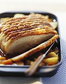 Roast meat with crackling