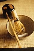 Still life with Japanese tea utensils