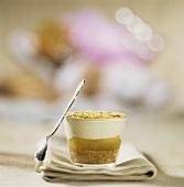 Apple trifle with cinnamon