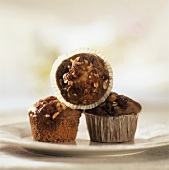 Apple and hazelnut muffins