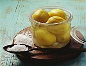 Lemons pickled in salt