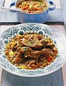 Trockenfleisch mit Linsen (Marokko)
