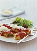 Cannelloni with minced beef