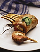 Rack of lamb with cheese stuffing