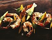 Grilled shrimp kebabs