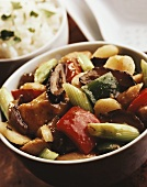 Sweet and sour pork with vegetables