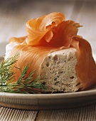 Tuna mousse wrapped in salmon