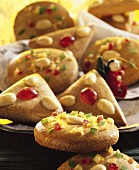 Almond cakes with candied fruit