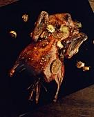 Gebratene Ente mit Honigglasur
