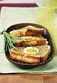Minced meat pie with egg