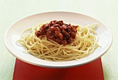Spaghetti with sauce bolognese