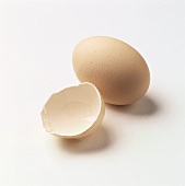 Eggshell and an egg