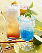 Blue Lagoon and Grapefruit Highball