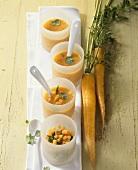 Asian yellow carrot soup