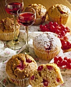 Redcurrant muffins with liqueur