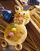 Easter Bunny in bread dough