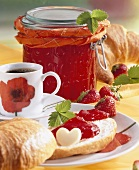 Strawberry and orange jam