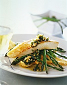 Red snapper with herbs and green asparagus